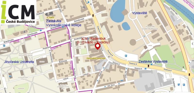 Mapa konání kroužku